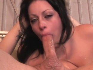 Fabulous pornstar Angelica Raven in incredible blowjob, big tits porn clip