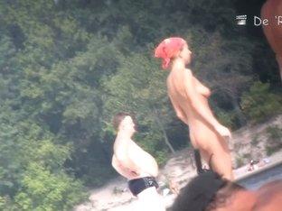 Voyeur spy video on a nude beach with hot ladies and fat gentlemen