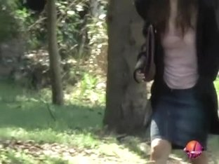 Japanese girl nude after a street sharking encounter.