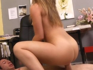 Kristina is upset and she's gonna fuck at work!