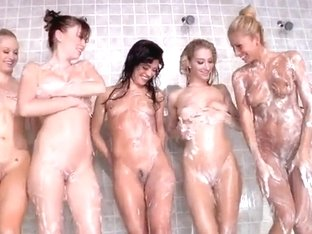Sexy lesbians washing each others asses feat. Clara G