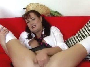 Masturbating her bald bawdy cleft
