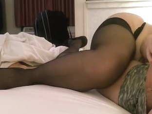 Jerking off my hubby on the bed