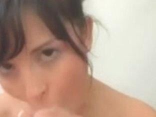 Cute Brit Sucks Strapon Anew - Facial