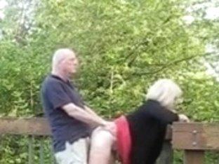 Granny fucked Outdoors