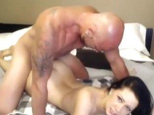 Cute gf acquires sprayed with cum
