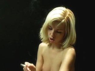 Smoking Mistress Saddles Slave
