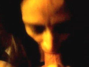 Beautiful girlfriend sucking a cock and swallowing cum