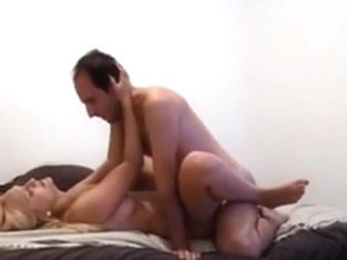 Hot blonde has doggystyle and missionary sex with her bf and moans