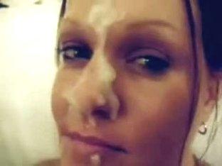 Handjob ends with a facial