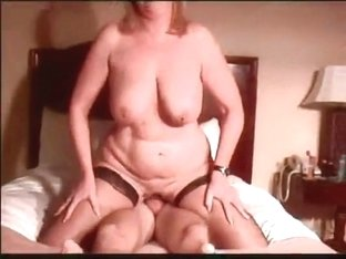Golden-Haired cougar aged wife with recent schlong