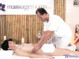 Incredible pornstars George, Mia Angel in Amazing Massage, MILF porn movie