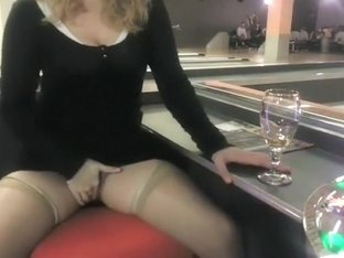 Horny slut showing herself to a baller