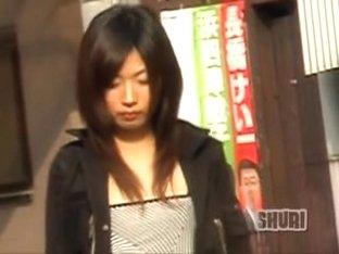 Hot girl got hooked her skirt on his sharking shuri bag