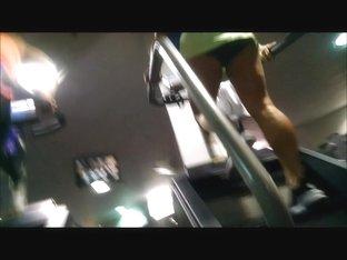 Spying On Gym MILF