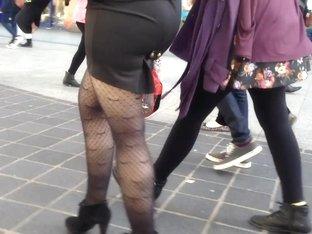 Sexy Legs Walking In Stockings
