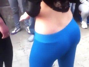 Voyeur tourist stumbles on dancing girls
