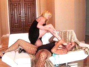 Amazing pornstars Debi Diamond and Ginger Lynn in crazy foot fetish, blonde porn video
