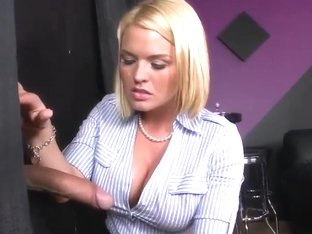This is the best stress relief for busty Krissy Lynn