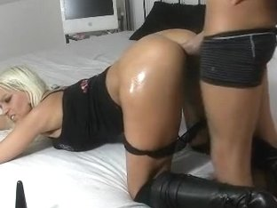 I'm fucked in doggy in my big tit amateur video clip