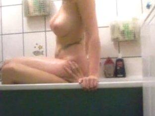 Golden-Haired bathtub bitch
