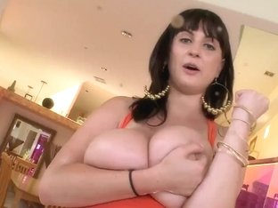 Beverly Paige conquers males' hearts by her tits