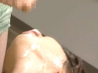 Miki Uehara Asian babe gets anal fucking and bukkake