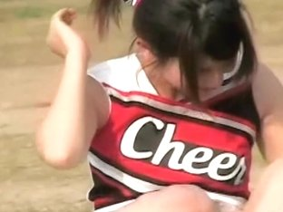 Couple of hot cheerleaders accidentally show their bodies