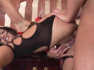 Nasty Hooker Dark Brown Wild Sex And Anal Creampie