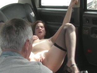 Fishnet brit babe cumsprayed on pussy