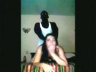 White college slut has a sex experiment with a black classmate