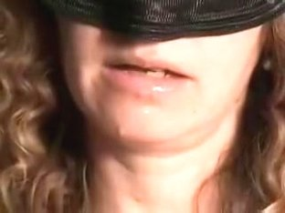 Masked wife cum in mouth home video
