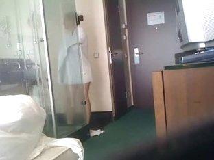 Hawt angel taking a shower