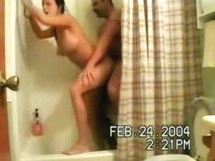 Shower blowjob and ass fucking