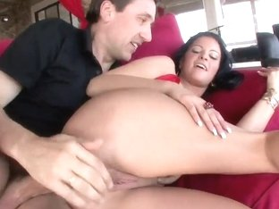 Big boobed teen Marilyn Scott is being nicely pounded