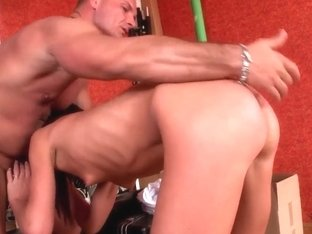 Nataly Gold is sucking a juicy cock