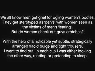 Girls check bulge