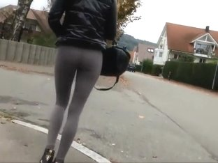 Sexy girl is a fast walker