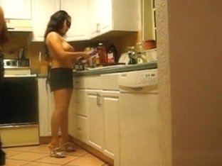 Wife Naked Cooking