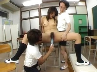 Horny Japanese slut Nagisa in Incredible Threesomes JAV clip