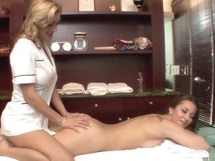 Hottest pornstars Dani Daniels and Tanya Tate in best big tits, blonde porn scene