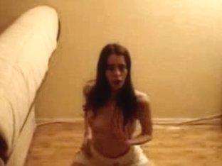 Novice porn star strips