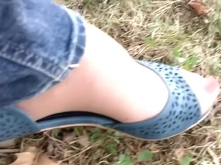 Blue heels at the park