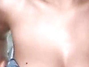 Breasty slut dancing on webcam