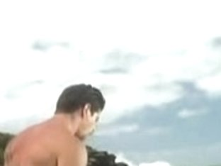 Cute Latina gets a POV fuck in all holes at the beach