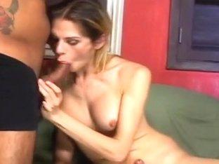 Blond tranny Nadia Franco and stud Matheus Axell do the nasty