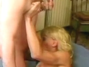 Great Blonde Shemale Getting Fucked By An Older Dude