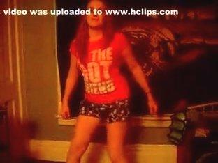 Desirous twerk cam dance clip