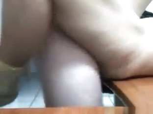 Latina closeup masturbation, doggystyle and missionary sex on her desk.