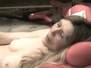 Sexually Excited mature massages her hairy vagina